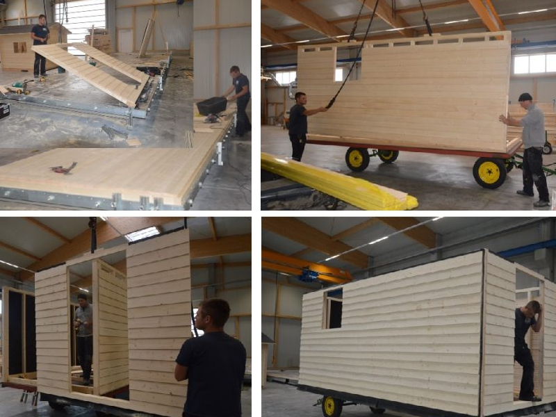 Flex Home, Fertigung eines Tiny House
